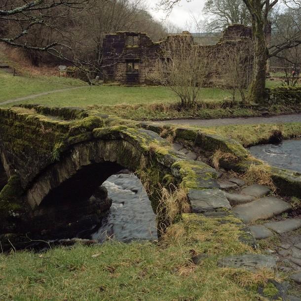 Ancient Stone Bridge Lancashire England Photo Source Is