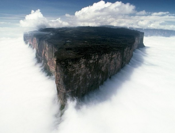 Another shot of the amazing Mount Roraima peaking its plateau above the clouds