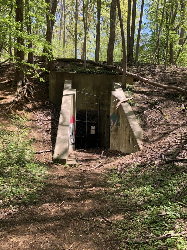 Any ideas on what this could have been used for Near a coastal defense station but quite a bit inland and deep in the woods