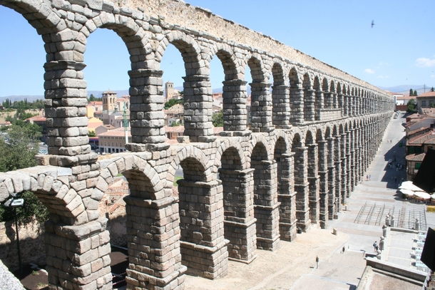 Aqueduct of Segovia is one of the most important and best preserved relics of the Roman presence in the Iberian Peninsula - Spain