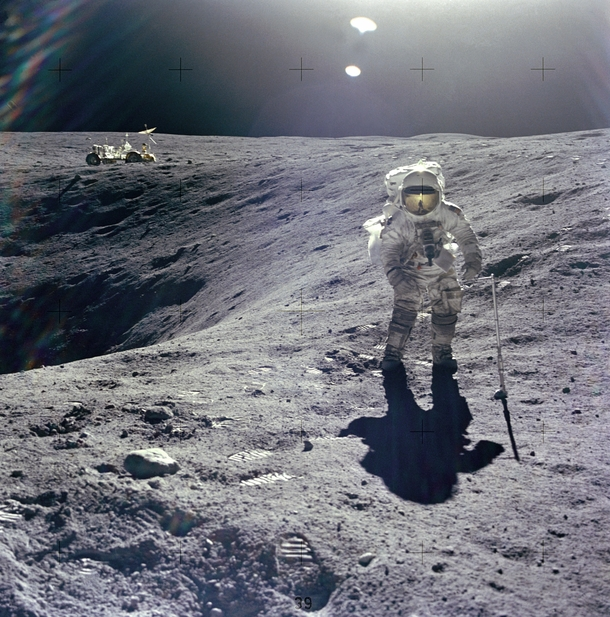 As a reminder of th Apollo  anniversary I always find space fascinating and pictures in space make me super happy but pictures of humans on the fucking moon is beyond what words can describe This is a feeling