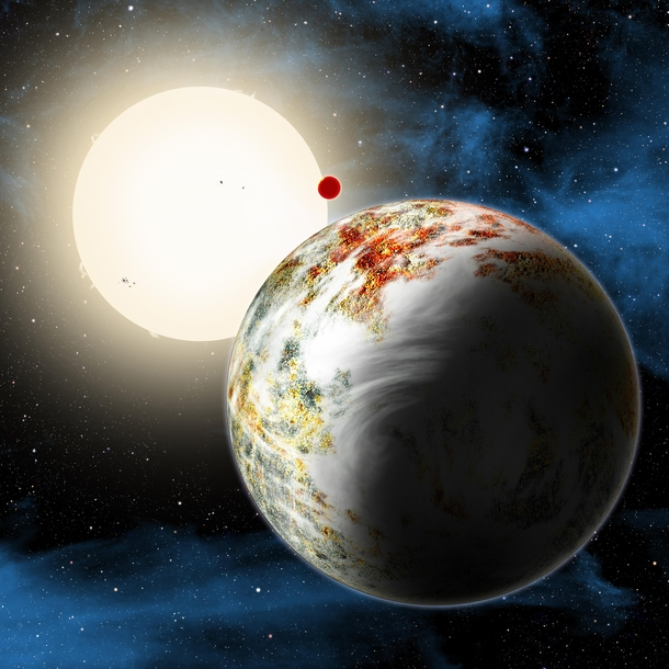 Astronomers confounded by Kepler-c a massive rocky exoplanet that formed when the Universe was only  billion years old and consisted predominantly of hydrogen and helium