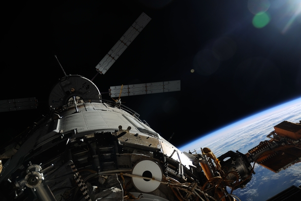 ATV Albert Einstein docked with the International Space Station