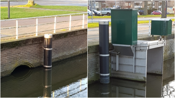 Automated sluice gate that measures the water level and adjusts accordingly The Netherlands