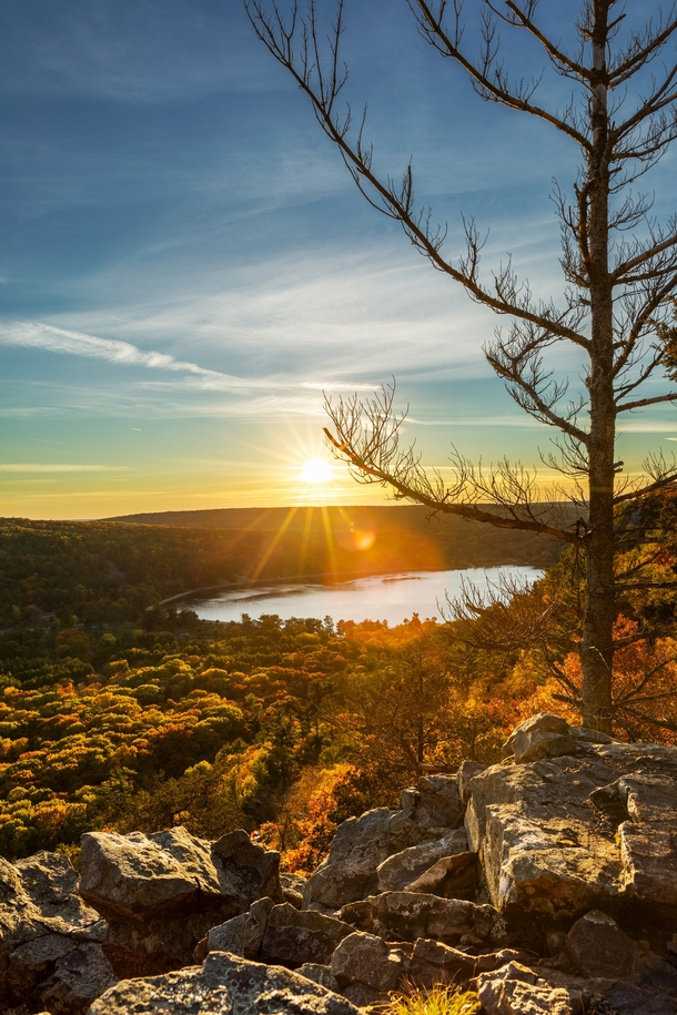 Autumn Sunset - East Bluff Devils Lake State Park Wisconsin USA
