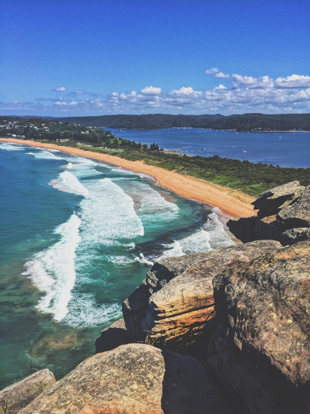 Barrenjoey Headland Sydney AU Where the ocean collides with the inlet
