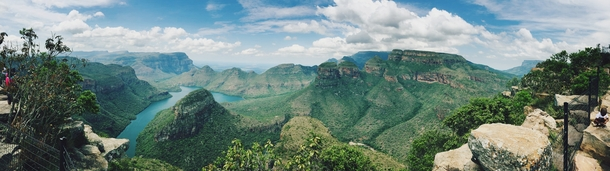 Beautiful panorama view of Blyde river canyon South Africa