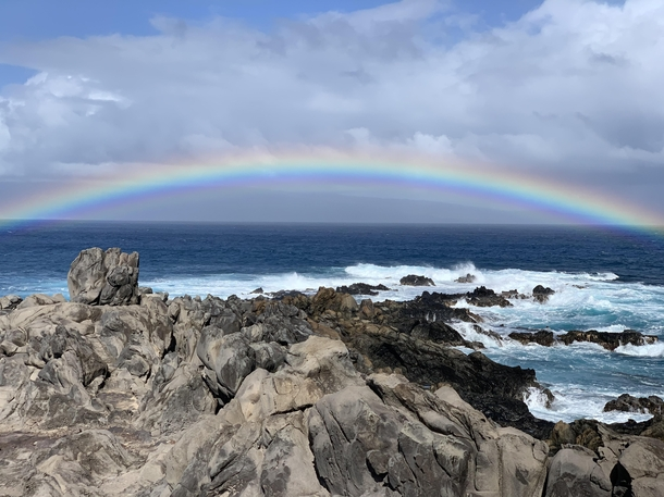 Beautiful rainbow this morning at Hawea Point on the Kapalua Coastal trail Kapalua Maui USA   x