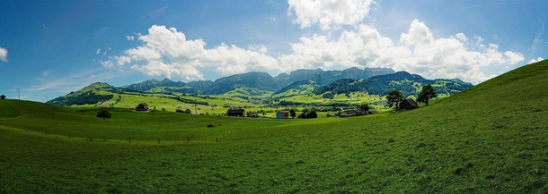 Beautiful village with stunning landscape Its Appenzell Switzerland