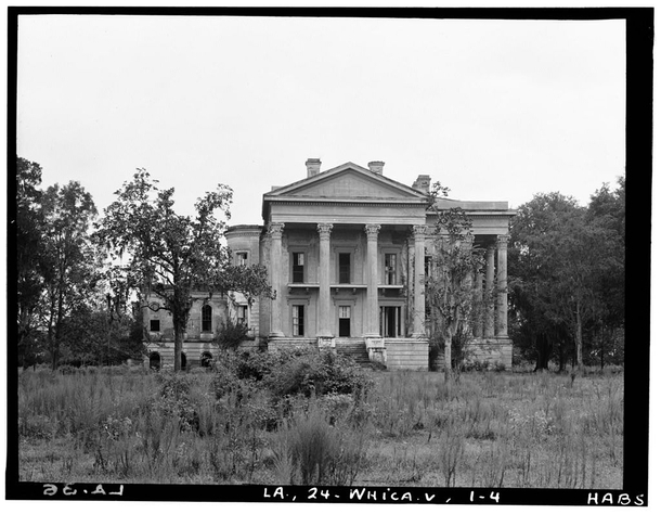 Belle Grove built  was considered the largest Southern antebellum mansion ever constructed It was abandoned in  and burned in  Album in comments