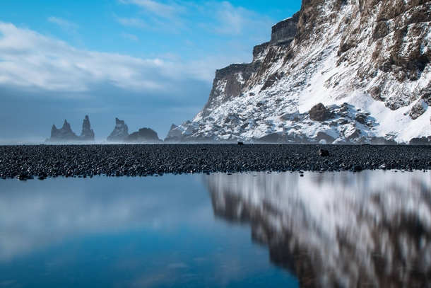 Black sand beach in Vk Iceland