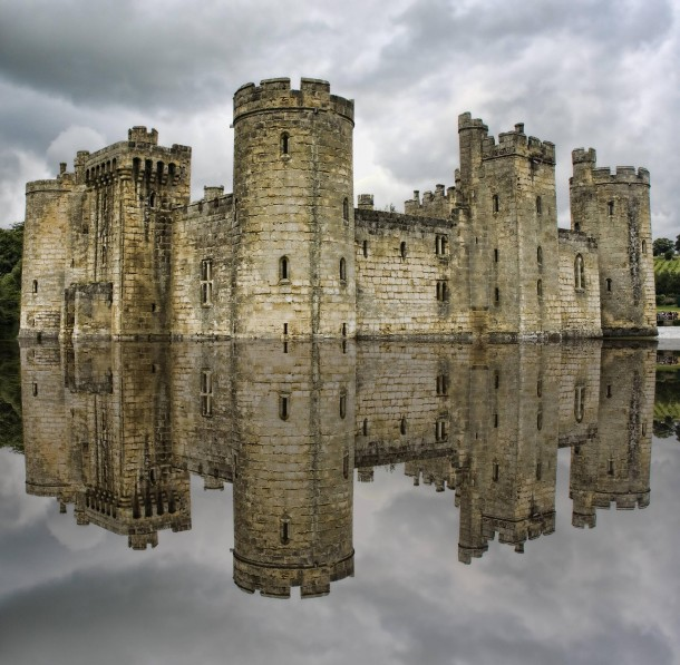 Bodiam Castle Built In The Th Century East Sussex England