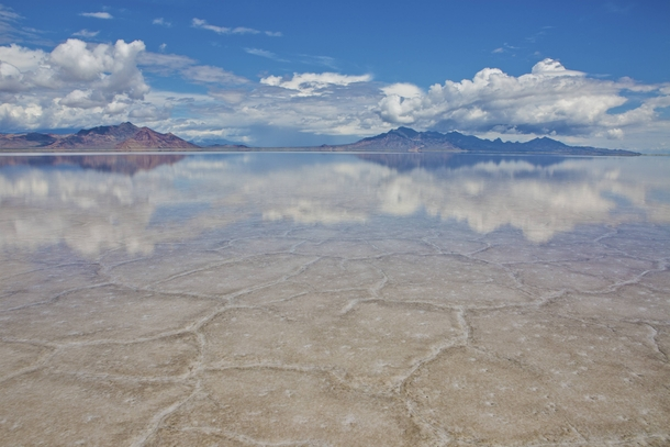 Bonneville Salt Flats Utah after a recent downpour - Photorator