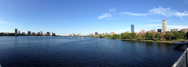 Boston and Cambridge from the Harvard Bridge