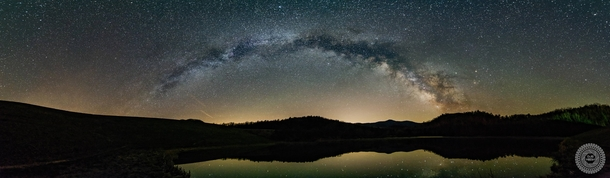 Brandywine WV is practically begging for stargazers With easy access off of Rt  and ominous mountains to block out light pollution I visit this site frequently Here is a small pano I completed there recently