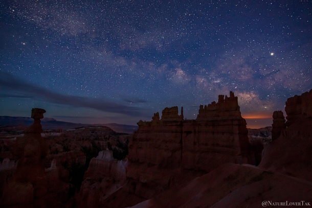 Bryce Canyon National Park featuring our magnificent galaxy The Milky Way