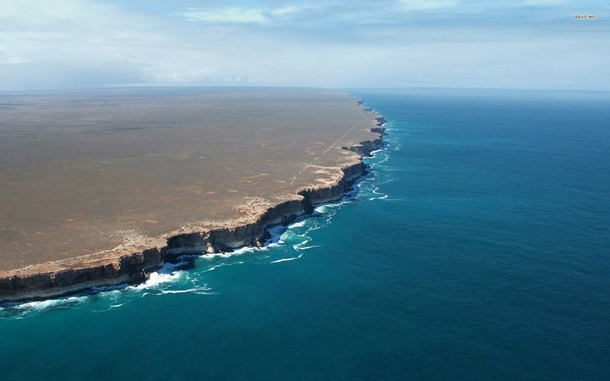 Bunda Cliffs Australia km of unbroken cliffs opening onto the vast Nullarbor plain  photo via dwsme