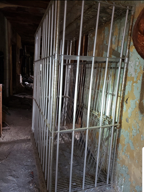 Cages for people Abandoned hospital