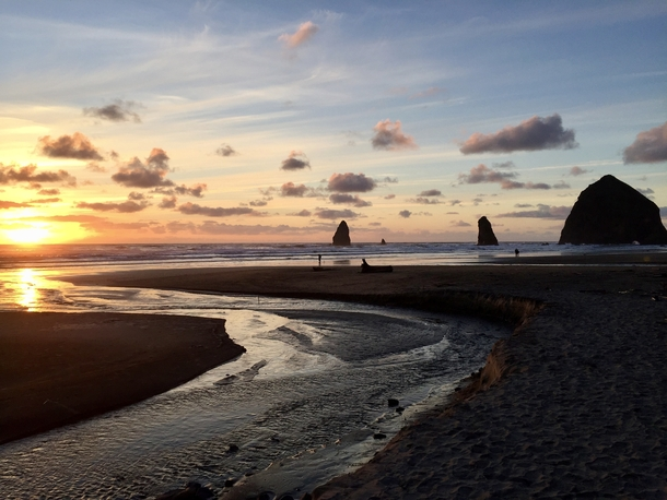 Cannon Beach Sunset Oregon