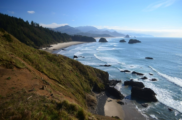 Cannon Beach taken from Ecola Point on Oregons northern coast x