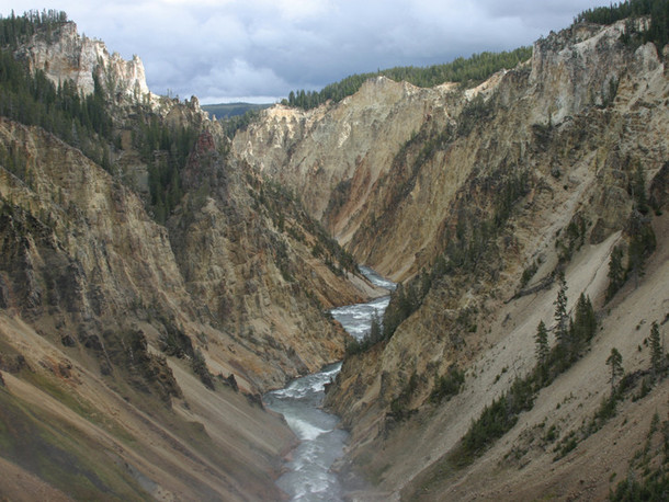 Canyon through Yellowstone National Park