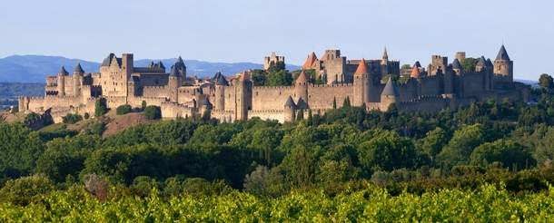 Carcassonne city walls Aude France