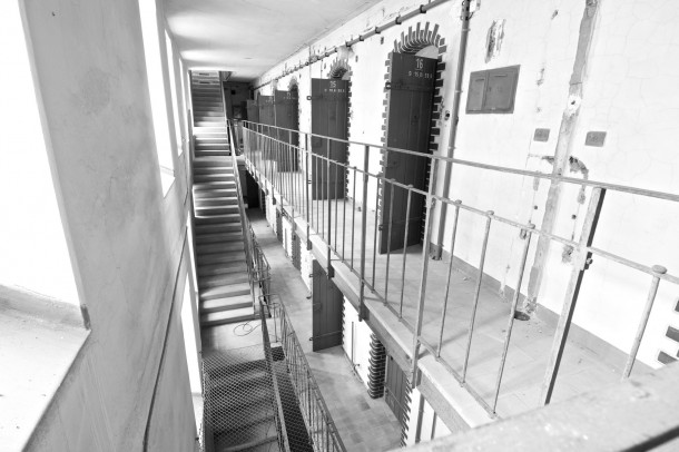 Cell block from  prison