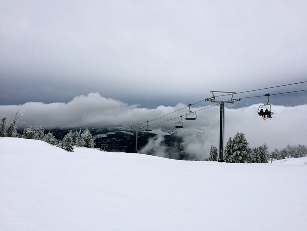 Chairlift at Mt Bachelor in Bend OR