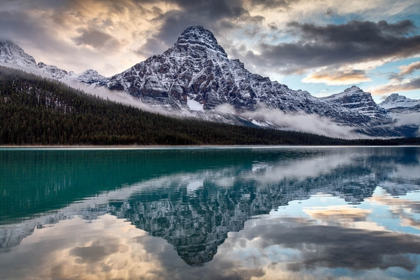 Chephren Sundown Waterfowl Lakes Banff National Park Alberta By Kirk Lougheed