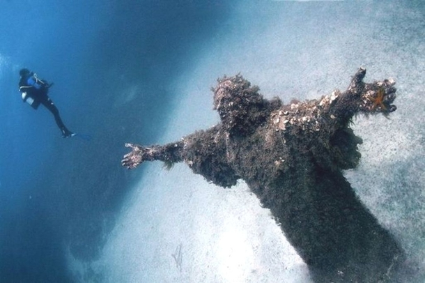 Christ of the Abyss at San Fruttuoso Italy