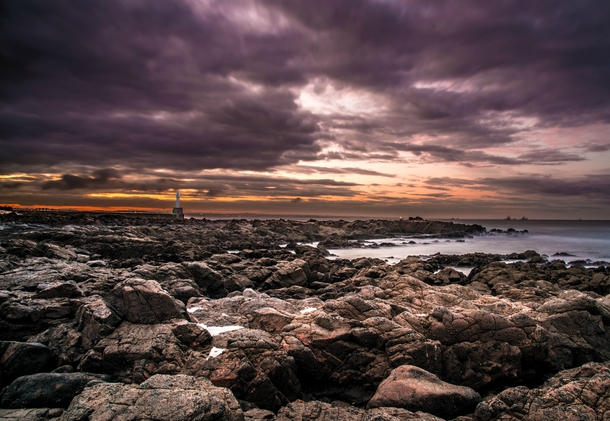 Clambered down the rocks to take this long exposure of Aberdeen bay in Scotland - some gorgeous skies on this relatively cold Scottish autumn day  - x