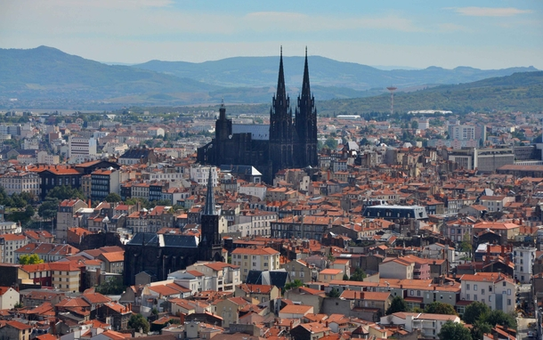 Clermont-Ferrand and its black cathedral France