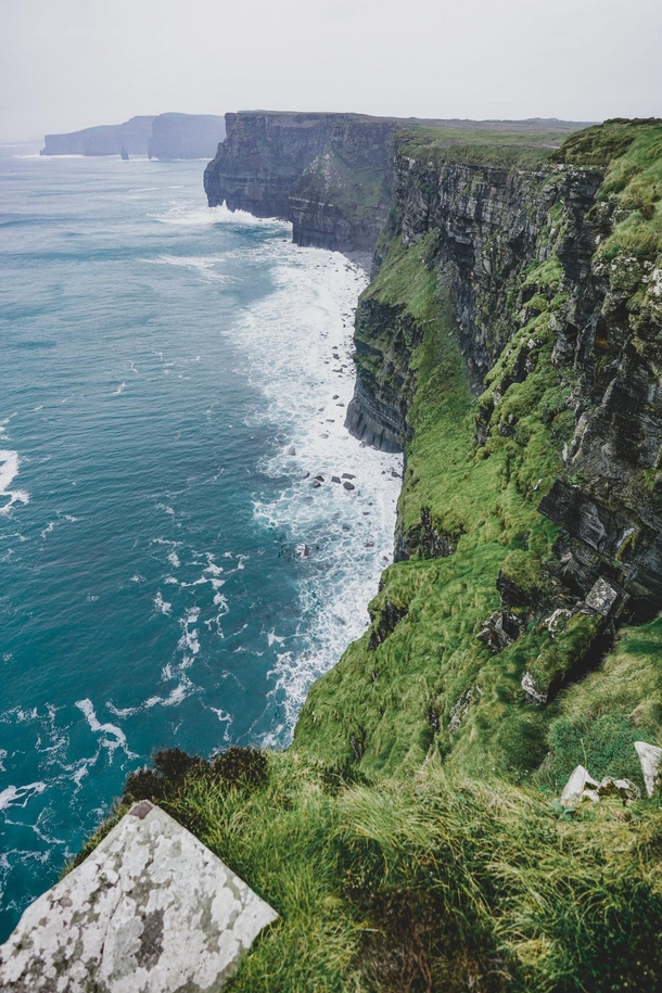 Cliffs of Moher -  death between  and  trying to take this type of pics - Be careful