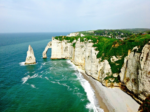 Coast of Etretat in Normandy France