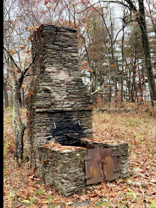 Cooking Fireplace Is All That Is Left From A Picnic Pavilion - Pa State Forest Land