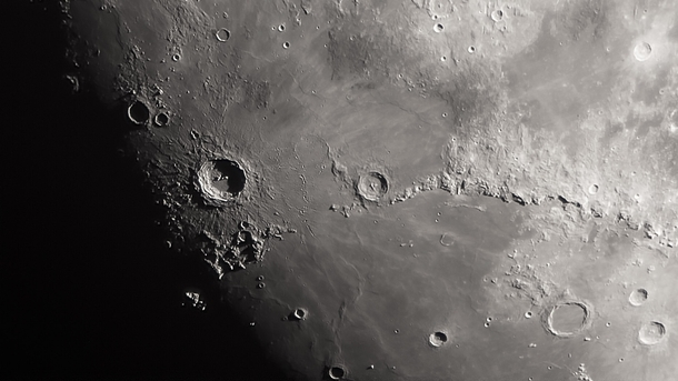 Copernicus Crater and the Montes Apennius mountains looked beautiful through my telescope last night