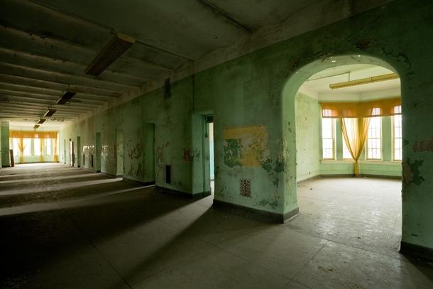 Corridor At Athens Lunatic Asylum In Ohio Photorator