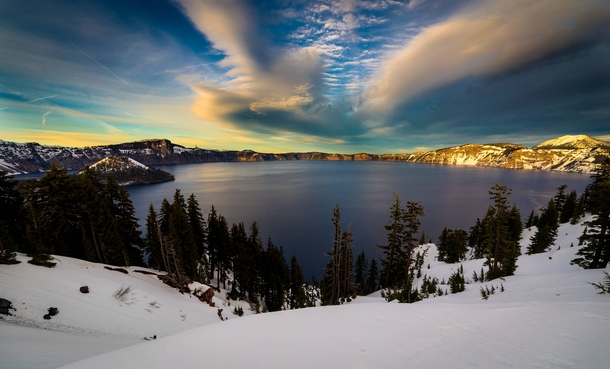 Crater Lake this last Winter OC