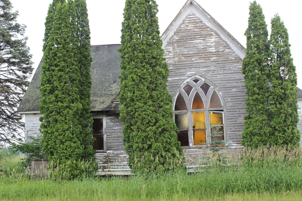 Creepy abandoned church northern Minnesota