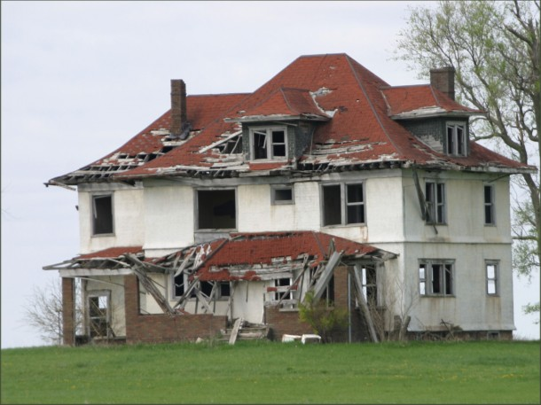 Image result for crumbling house