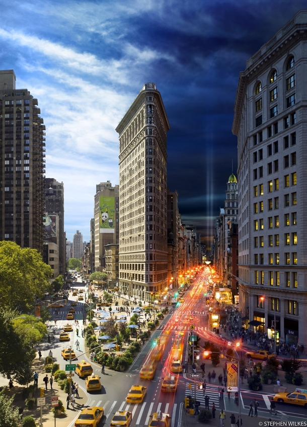 Day and Night in New York in One Photograph by Stephen Wilkes