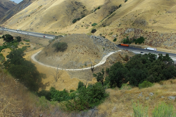 Dead Mans Curve a section of the Ridge Route constructed in  that was bypassed when US  later I- was realigned to make travel straighter amp safer Tejon Pass near Lebec California