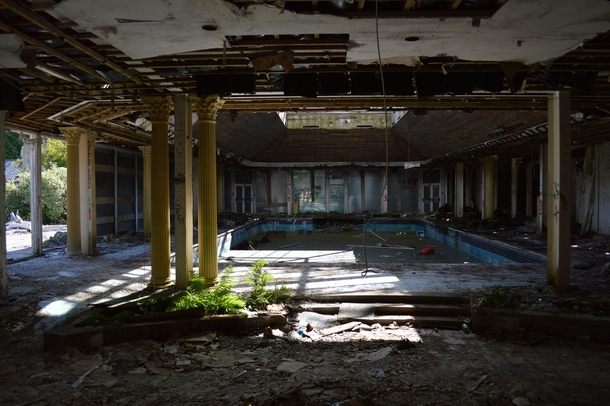 Decrepit hotel pool bournemouth england photorator - Hotels in bournemouth with swimming pool ...