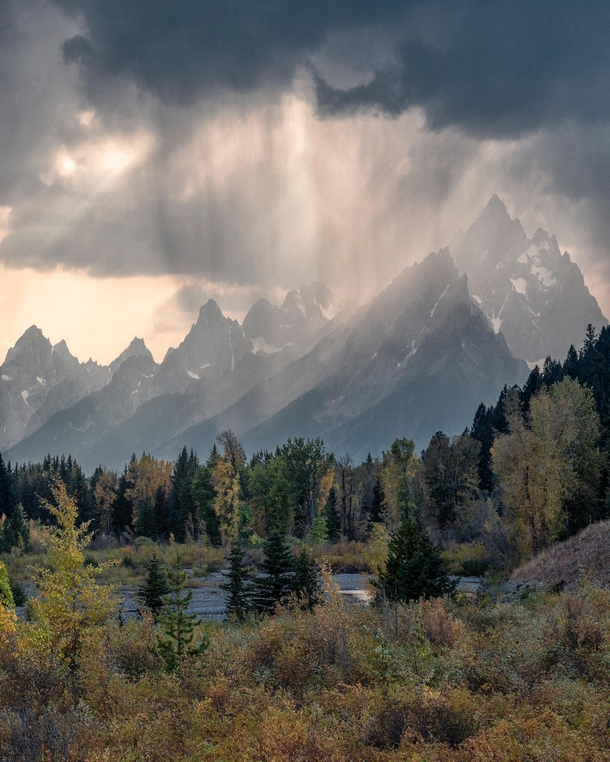 Deluge on the Mountains Grand Teton National Park Wyoming