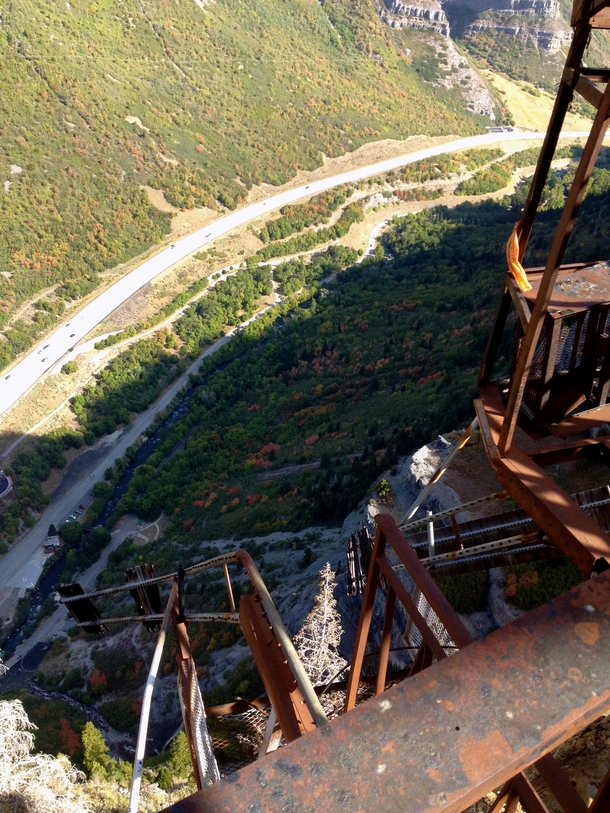 Destroyed aerial tram in Utah Used to be the worlds steepest