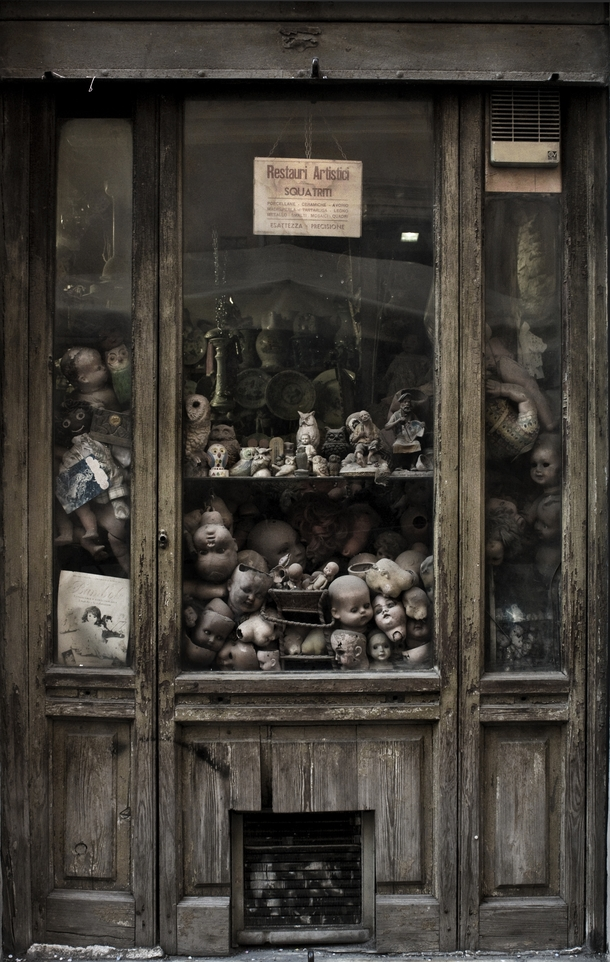 Disused and broken doll parts at the Doll Repair Hospital in Rome Italy Photo by Federica Campanelli
