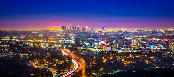 Downtown los angeles after a beautiful sunset photorator for Beautiful in los angeles