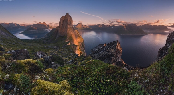 Dragons Tooth - Mountains and fjords near Fjordgrd Norway  photo by Daniel Korzhonov