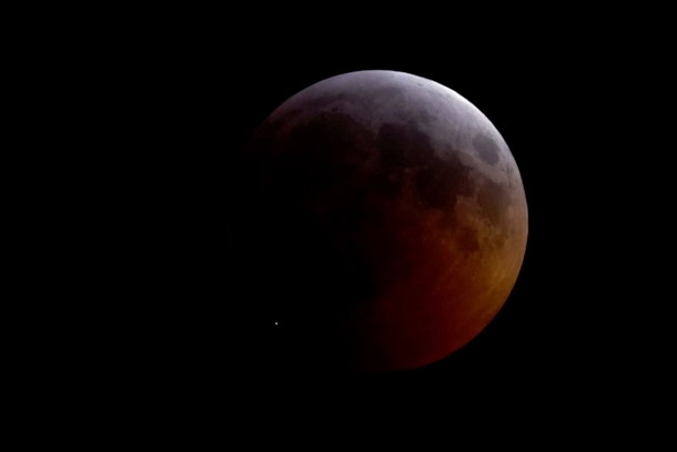 During the Lunar Eclipse Something Slammed Into the Moon see commentwhite dot in picture