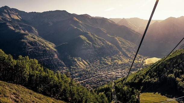 Early Morning Gondola Ride At Telluride Colorado - Photo by Sasha Juliard